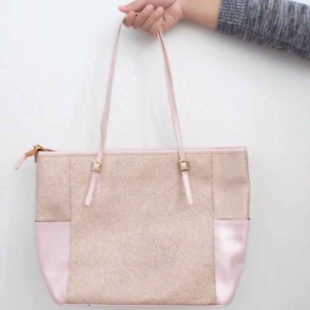 Gliter Pink Bag By Jadebag