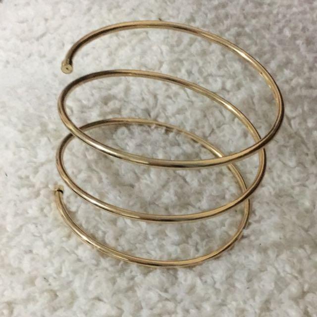 Lovisa Gold Arm Cuff Womens Fashion Jewelry on Carousell