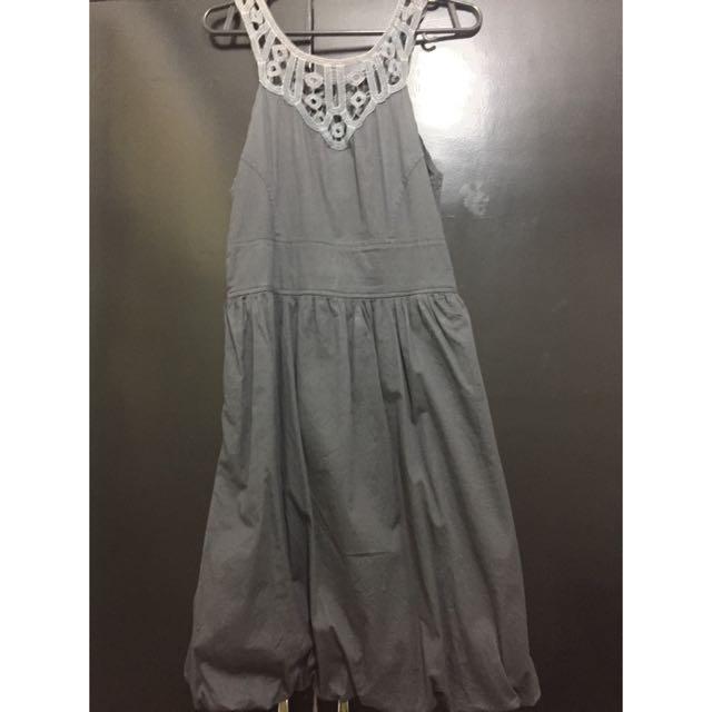 Gray Balloon Dress