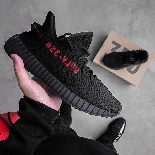 d7c1bf781f7 IN TRANSIT  Adidas Yeezy Boost 350 V2  Pirate Bred  Black   Red ...