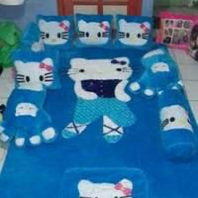 Karpet Blie Hello Kitty