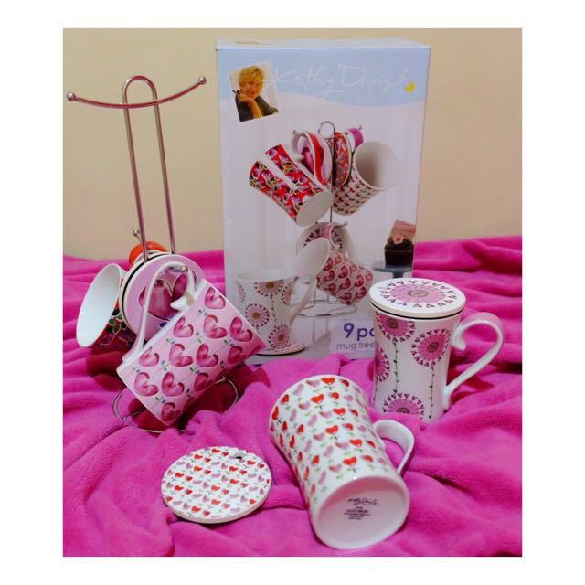 Kathy Davis Mug Tree Set
