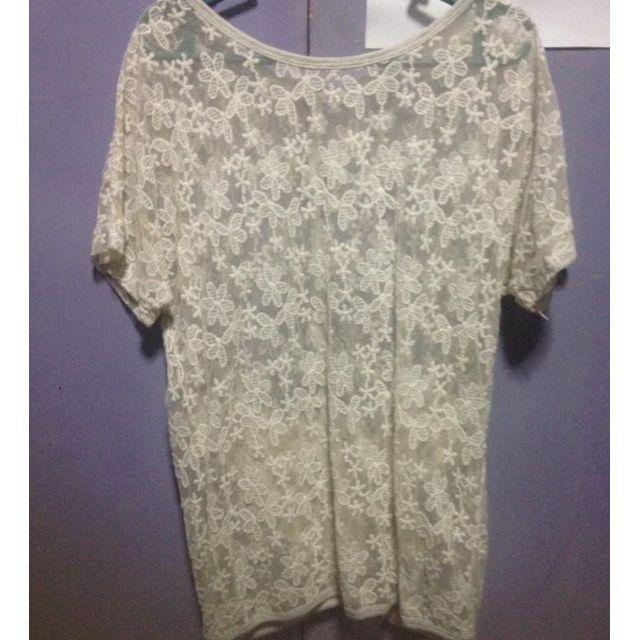 Lace floral top