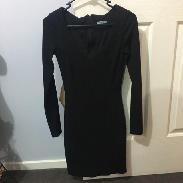 Long Sleeve Black Kookai Dress Size 36