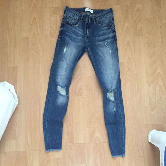 Mango Skinny Distressed Jeans