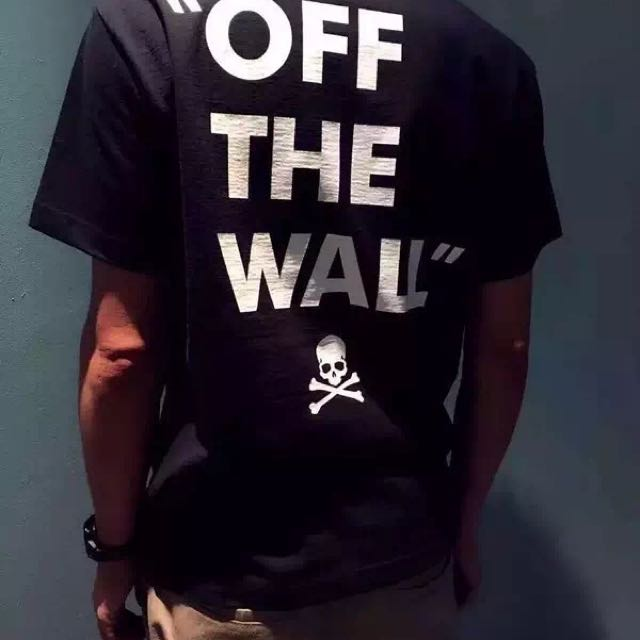 131ee1e678 mastermind JAPAN x VANS   OFF THE WALL TEE BLACK