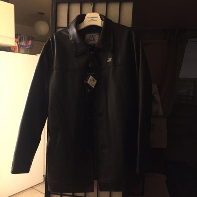 Mens Leather Jacket (size Large)