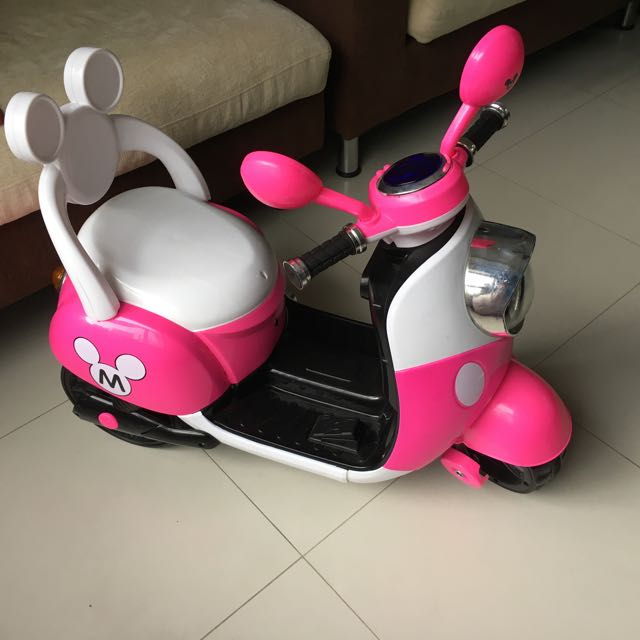 Motorized Pink Scooter