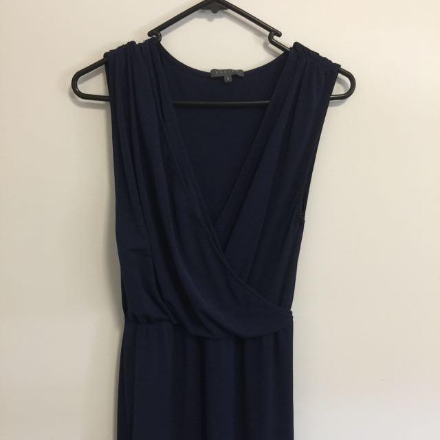 Navy Blue Sheike Dress