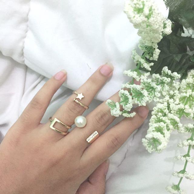 (New) 3 Pcs Classy Ring