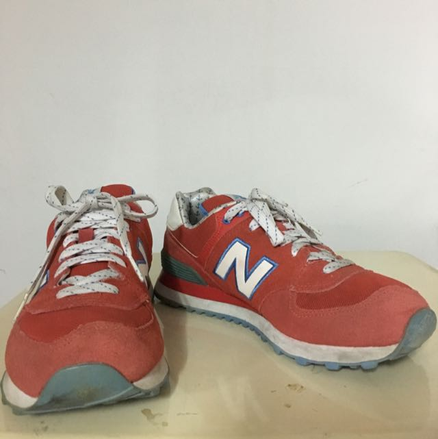 new balance574 紅色慢跑鞋