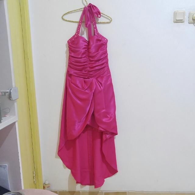 Pink Long Dress Gown