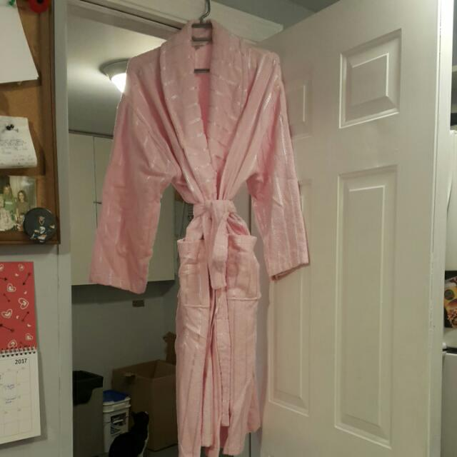 Pink Terrington Cloth Robe Size 16-18