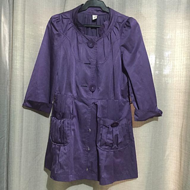Purple Trench Coat