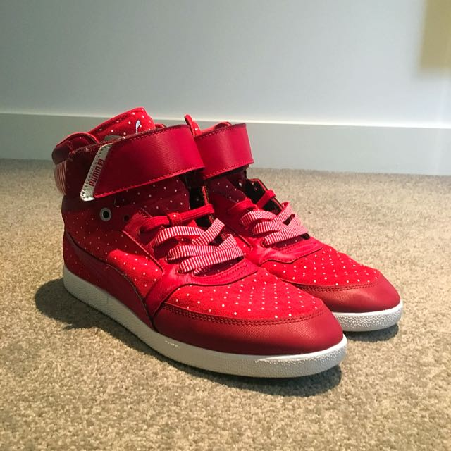 Red Puma High Tops