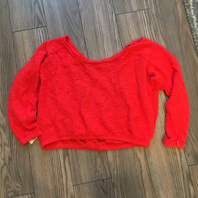 Red Zara Off The Shoulder Sweater (I Have It In White Too!)