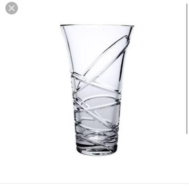 Royal Doulton Saturn Crystal Glass Vase Toorak Luxury Accessories