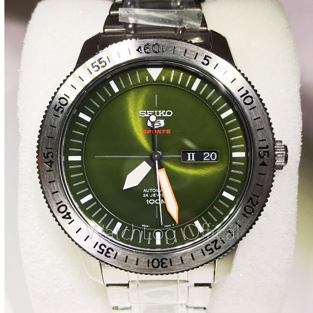 93f9c4a1504e SEIKO 5 Automatic Green Dial Stainless Steel Men s Watch SRP561K1 ...
