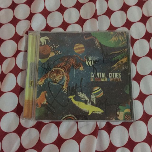 Signed Capital Cities In A Tidal Wave Of Mystery Album