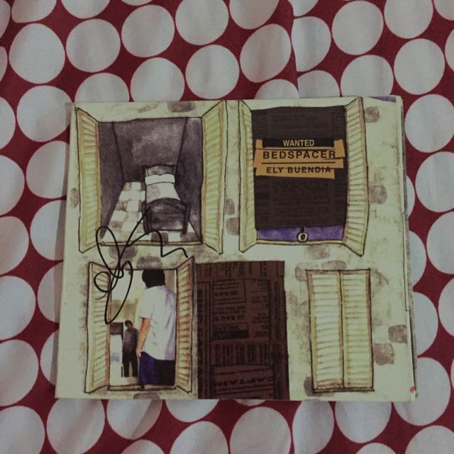 Signed Ely Buendia Wanted Bed Spacer Album