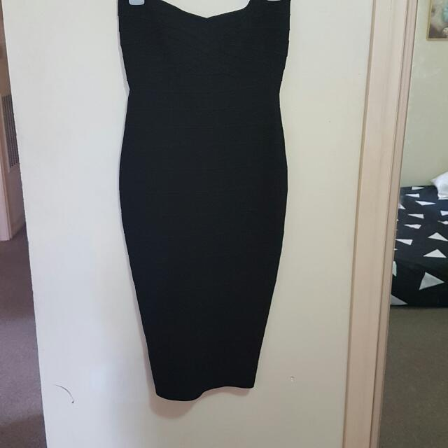 Size M - Strapless Bandage Dress