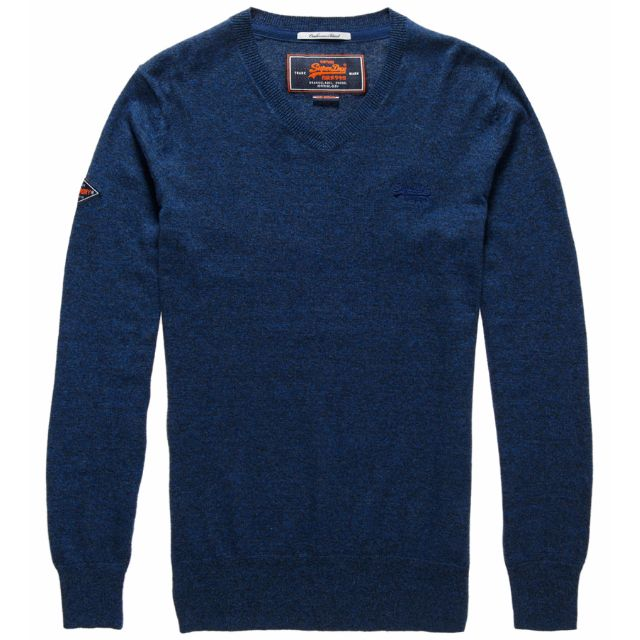 Superdry 極度乾燥 針織毛衣 M號- Orange Label V-Neck Jumper