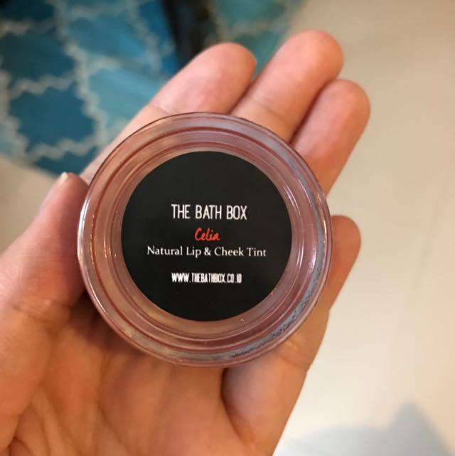 The Bath Box Lip and Cheek Tint (Lipstik & Blush On)
