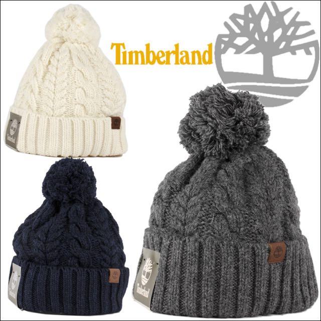 Timberland 可愛球球毛帽