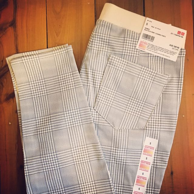 Uniqlo Cream & Grey Pants