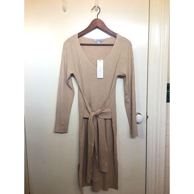 White Closet Knit Dress