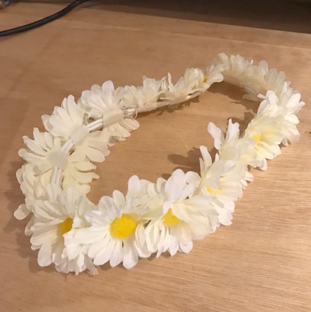 White Flower Headband