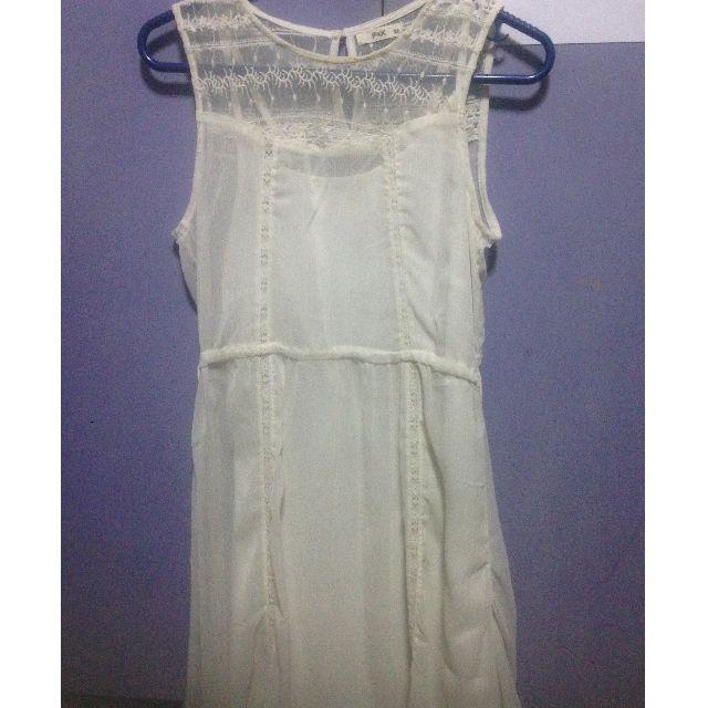 White f&x dress