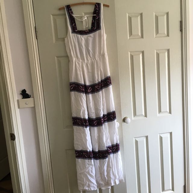 White Tigerlily Maxi Dress