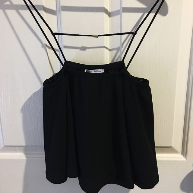 Zara Black Straight Crop