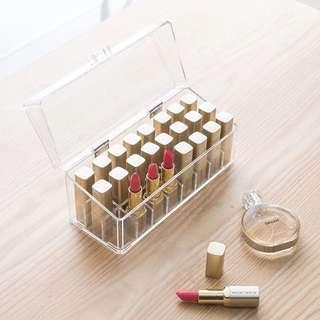 韓式透明亞克力防塵翻蓋口紅收納盒