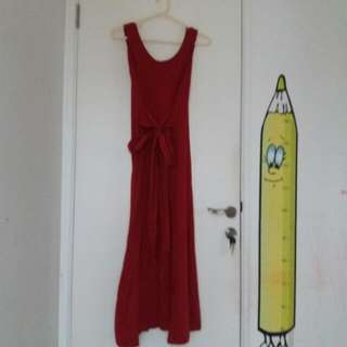 Neptune Dress Cotton Ink Color Berry (Merah)