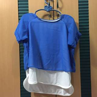 Blue Top Two Side