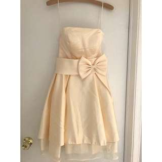 Small Cream Ivory Cocktail Prom Dress