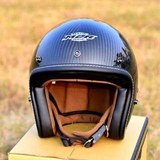 【金剛安全帽】M2R XF-1 彩繪全碳纖維 復古帽 騎士帽 3/4安全帽 超輕量 哈雷 重機 Gogoro 偉士牌