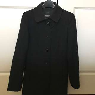 REDUCED Aritzia Talula Long Black Wool Coat