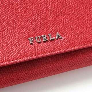 BNIB Furla Ruby Red Wallet Trilli Leather Po35