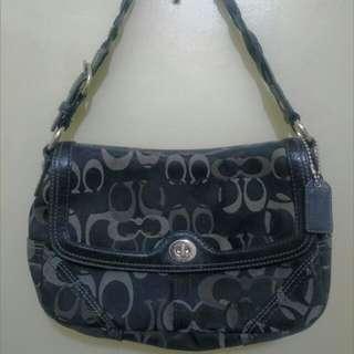 Authentic Coach 10993 Chelsea Signature Optic Flap Purse Bag