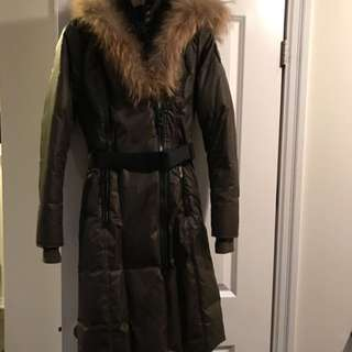 Women's RUD BY RUDSAK 3/4 Length Coat With Fur Hood