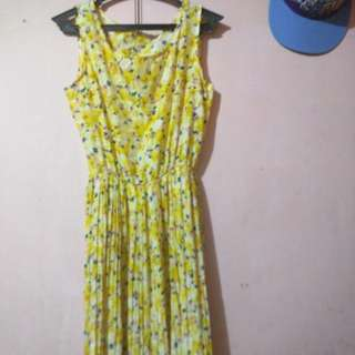 Yellow Floral Maxi dress (Repriced)