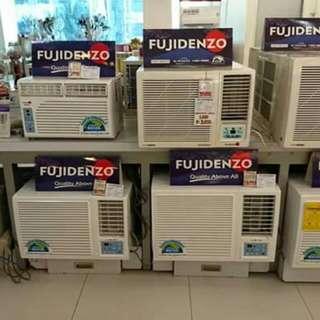 fujidenzo aircon window type..manual or remote