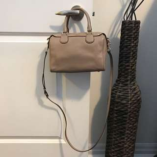 Authentic Small Coach Handbag Pebbled leather