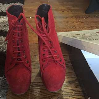 Jeffrey Campbell Lita Red Suede (Limited Edition)