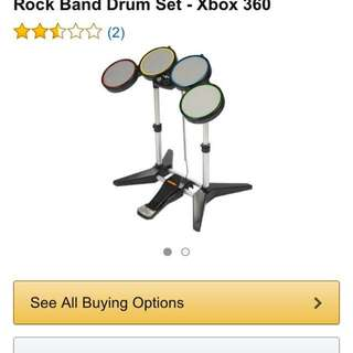 Rock band Xbox 360 drum set