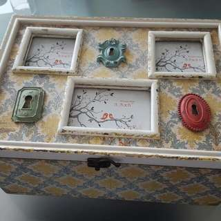 Extra Large Trinket Box With Photo Inserts
