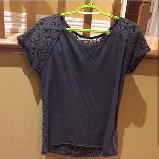 h&m lace back top